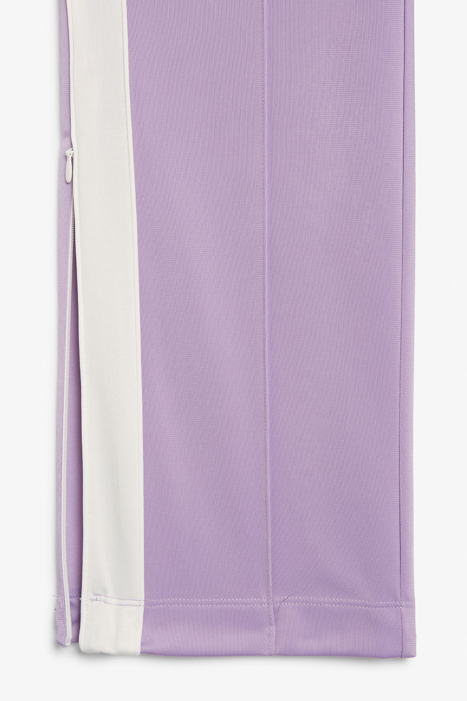Detailed image of Monki tailored track pants in purple
