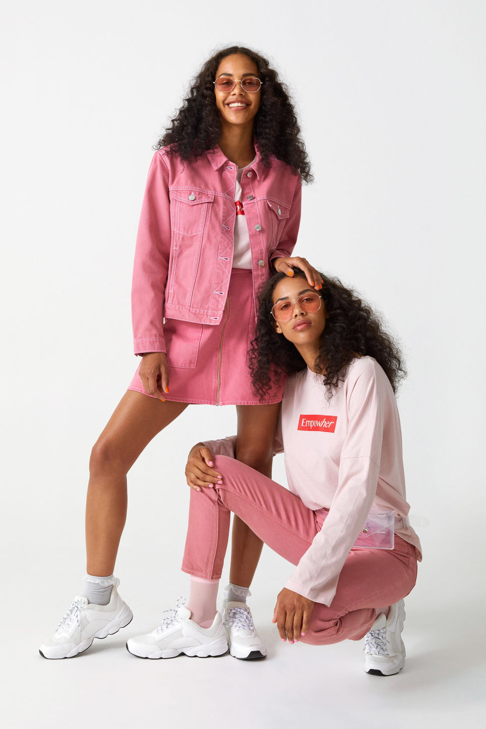 Detailed image of Monki soft long-sleeved tee in pink