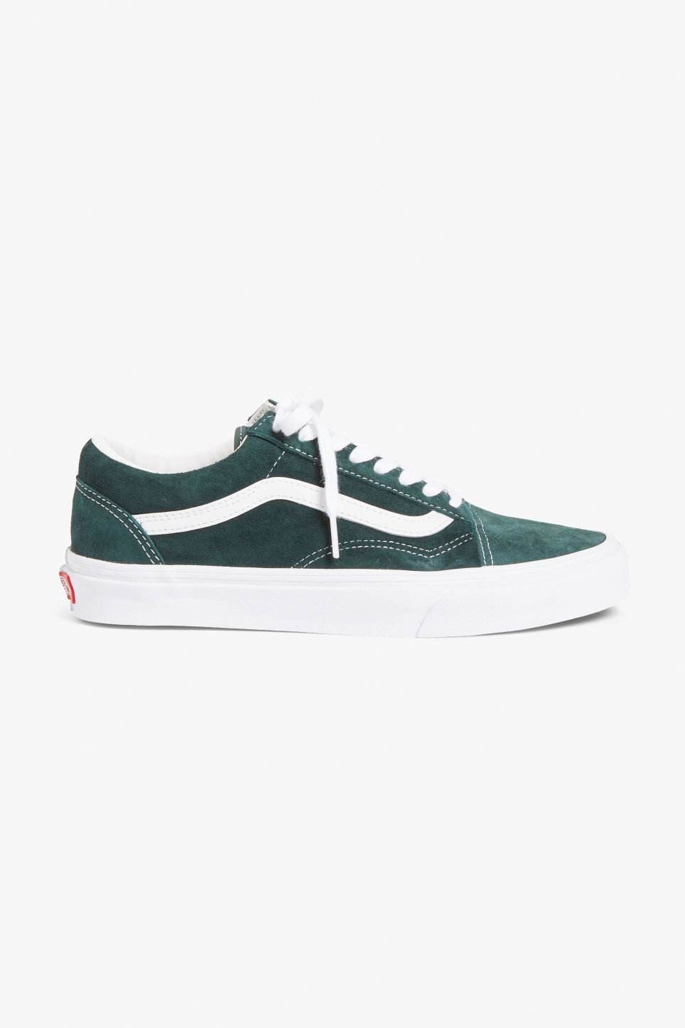 Detailed image of Monki vans suede old school in green