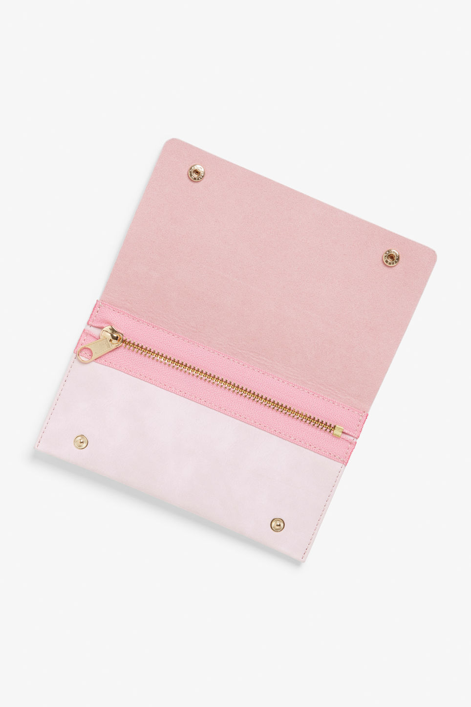 Detailed image of Monki wallet with belt loop in pink