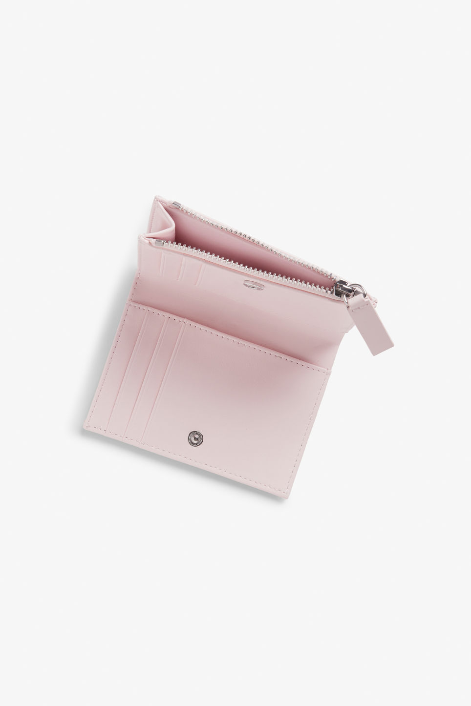 Detailed image of Monki handy wallet in pink