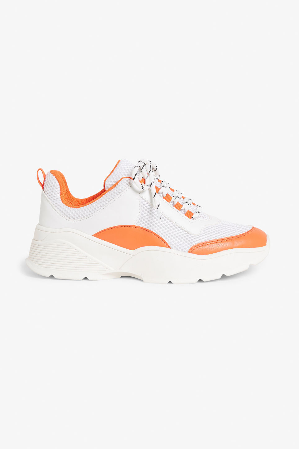 Detailed image of Monki low-top sneaker in orange