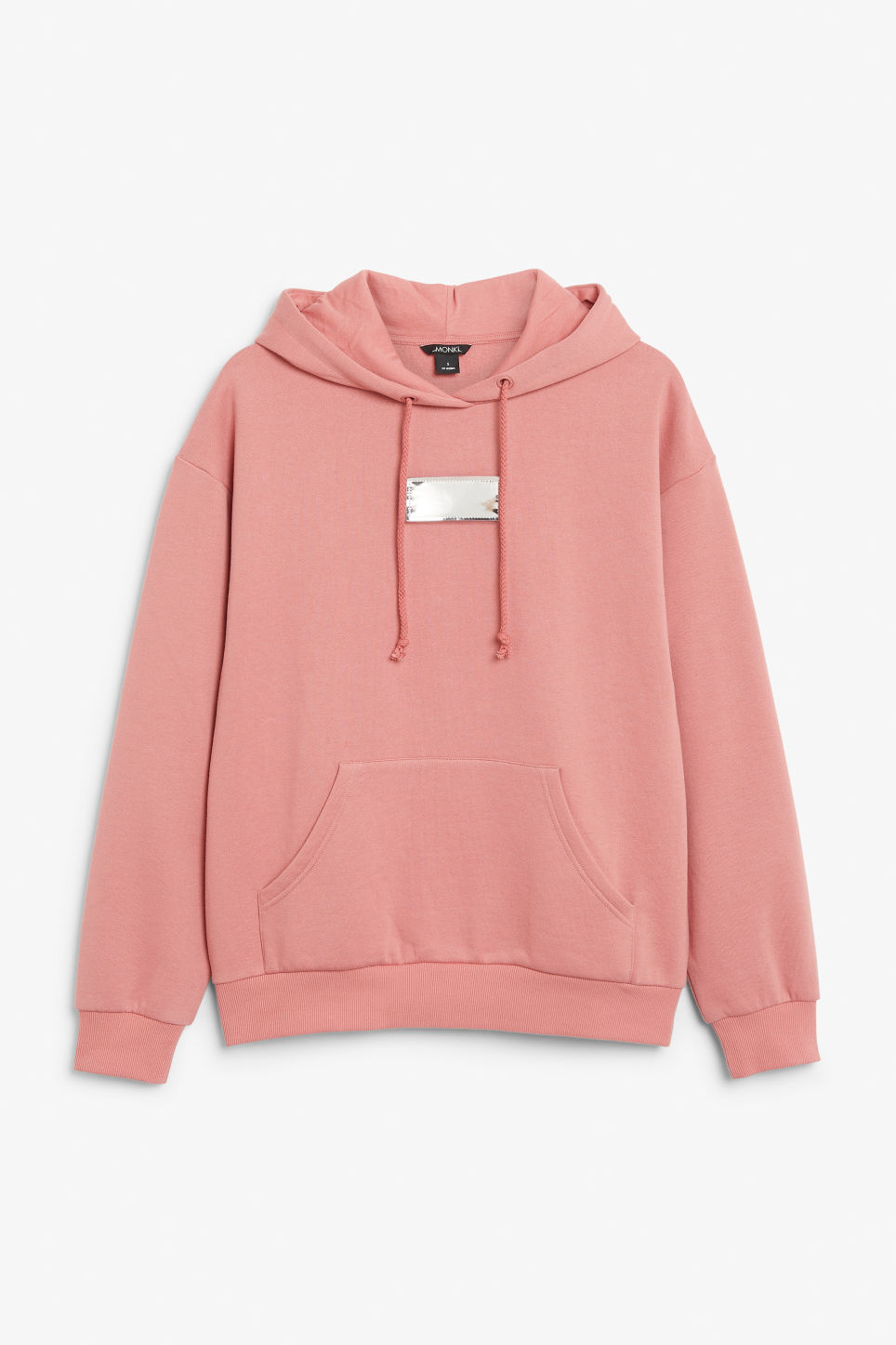 Detailed image of Monki swap-it hoodie in pink