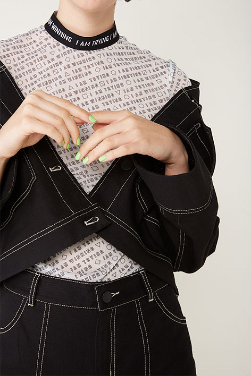 Detailed image of Monki sporty mesh top in white