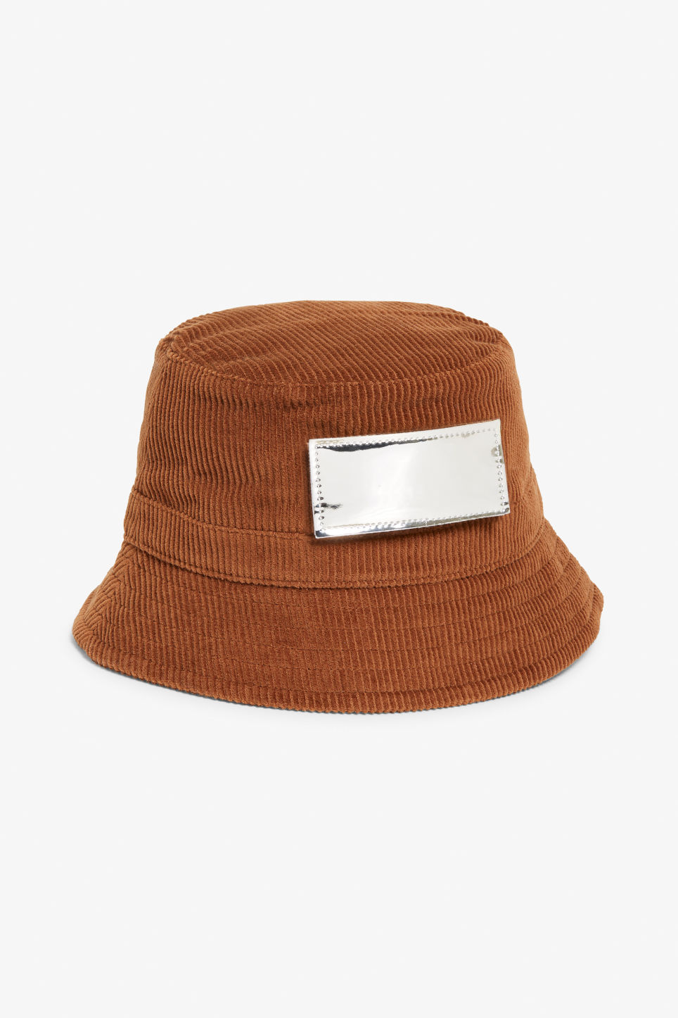 Detailed image of Monki corduroy hat in orange
