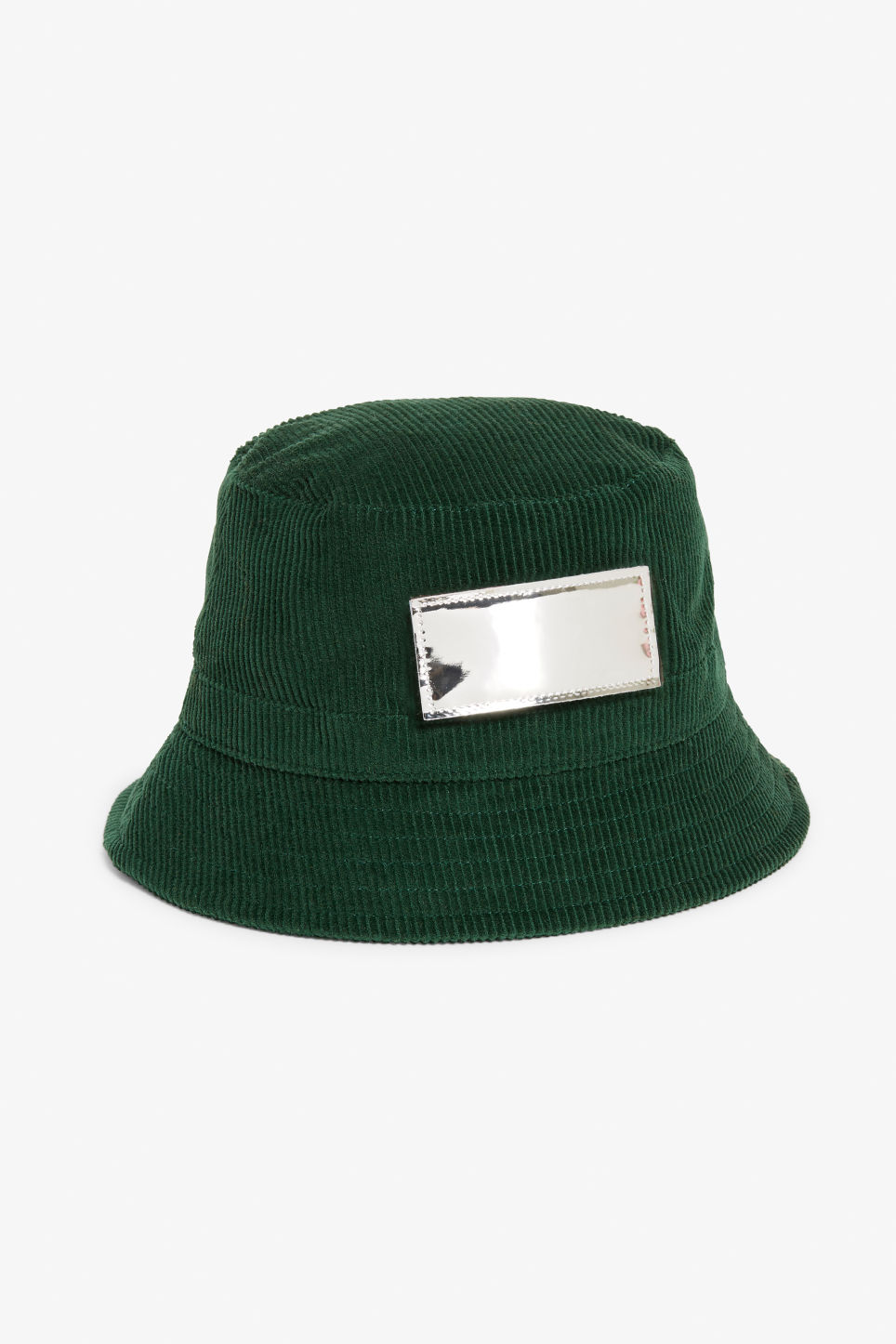 Detailed image of Monki corduroy hat in green