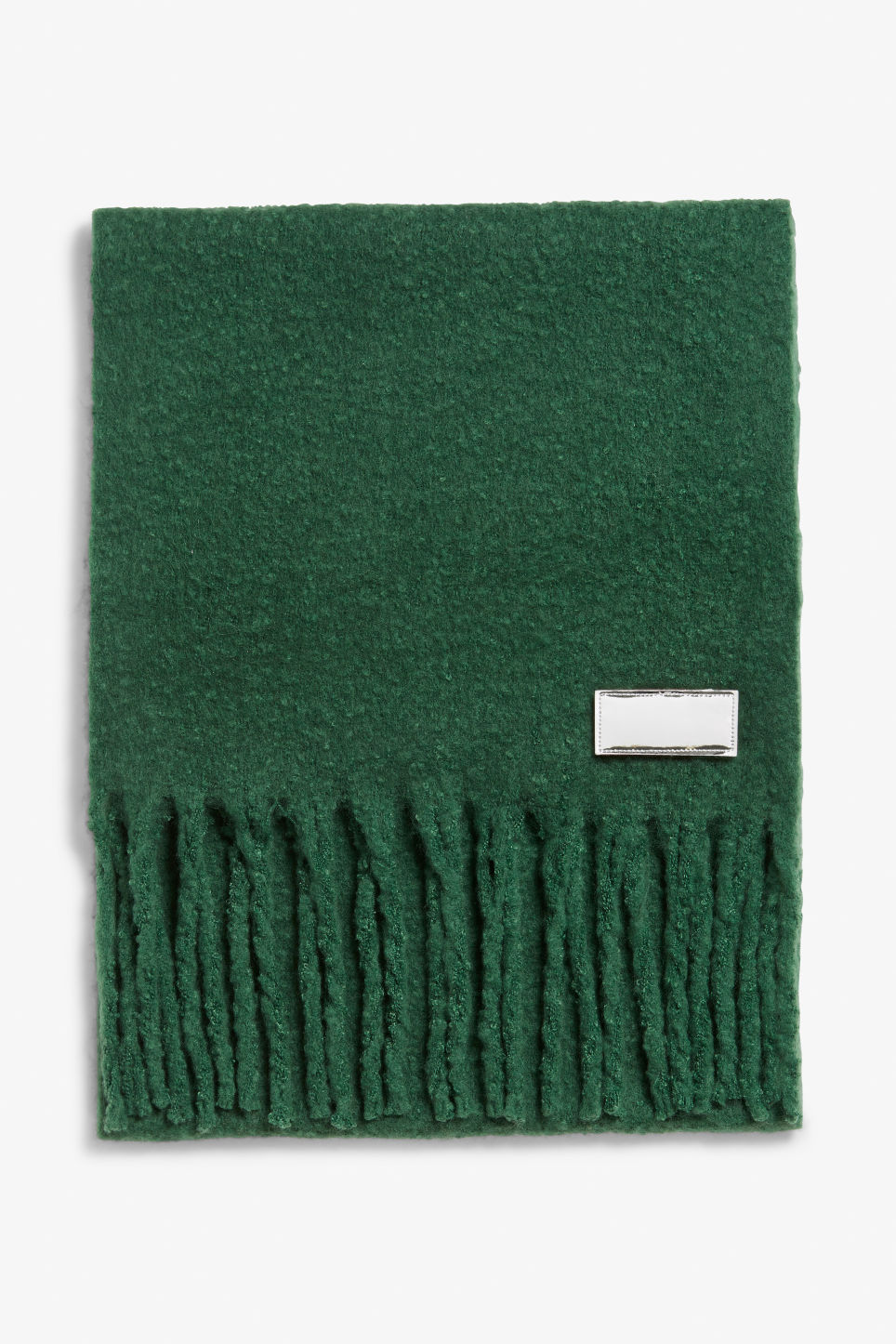 Detailed image of Monki statement scarf in green