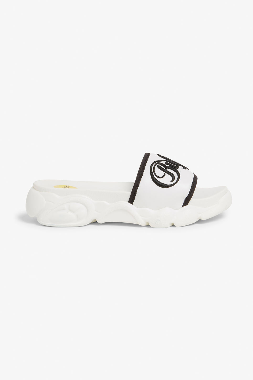 Detailed image of Monki buffalo elani slides in white