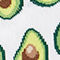 Fabric Swatch image of Monki avocado socks in white