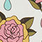 Fabric Swatch image of Monki temporary tattoos in pink