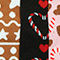 Fabric Swatch image of Monki five-pack socks in red