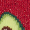 Fabric Swatch image of Monki glittery avocado socks in red