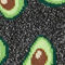 Fabric Swatch image of Monki glittery avocado socks in black