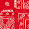 Fabric Swatch image of Monki statement scarf in red
