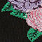 Fabric Swatch image of Monki glittery rose socks in black