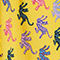 Fabric Swatch image of Monki flowy shorts in yellow