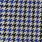 Fabric Swatch image of Monki houndstooth drawstring skirt in blue