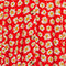 Fabric Swatch image of Monki retro skater dress in red