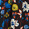 Fabric Swatch image of Monki flowy buttoned dress in black