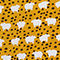 Fabric Swatch image of Monki buttoned v-neck dress in yellow