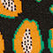 Fabric Swatch image of Monki papaya socks in black